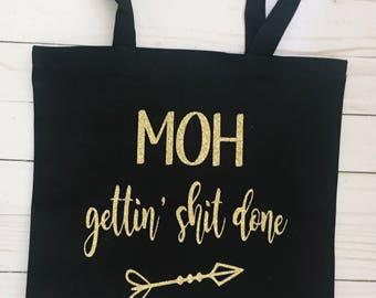 Bridal Party Gift | MOH bag | Bridesmaid Gift | MOH Gift | Bridal Party Tote Bag | Wedding | Maid of Honor Gift | Maid of Honor Tote Bag