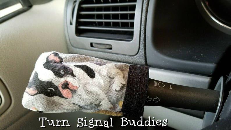 French bulldog turn signal buddy, car accessories, turn signal accessories,  turn signal covers, French bulldogs, steering wheel covers, dogs