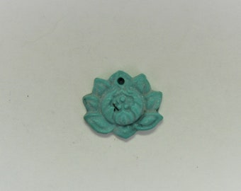 Turquoise Carved Lotus (stabizlized)