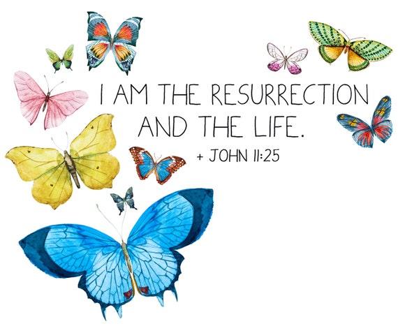 John 11:25 I Am the Resurrection and the Life   Etsy