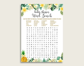tropical word search etsy