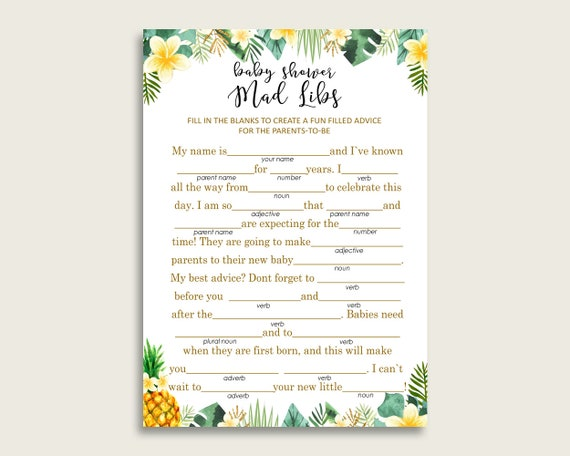 photo relating to Summer Mad Libs Printable identify Environmentally friendly Yellow Outrageous Libs Youngster Shower Gender Impartial Recreation