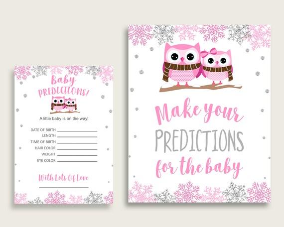 Owl Tree Baby Shower AdviceActivity Books PinkPurple