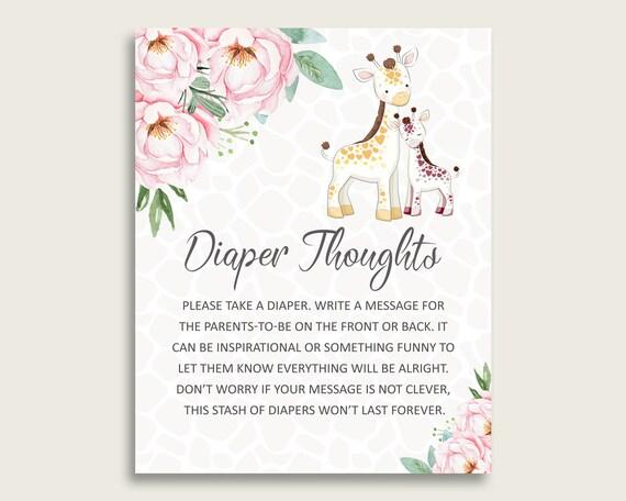 photograph regarding Late Night Diaper Sign Free Printable called Giraffe Kid Shower Diaper Concerns Printable, Lady Purple