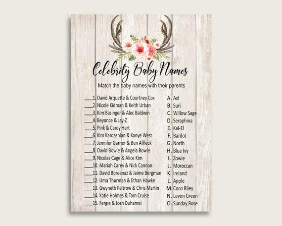 Beige Pink Celebrity Baby Names, Boho Antlers Baby Shower Girl Name
