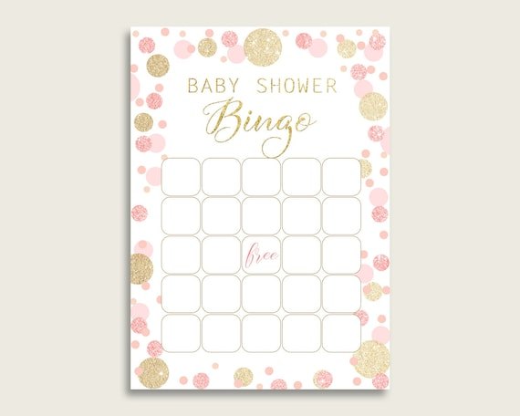 graphic regarding Dots Game Printable called Crimson Gold Child Shower Bingo Blank Sport Printable, Dots Boy or girl