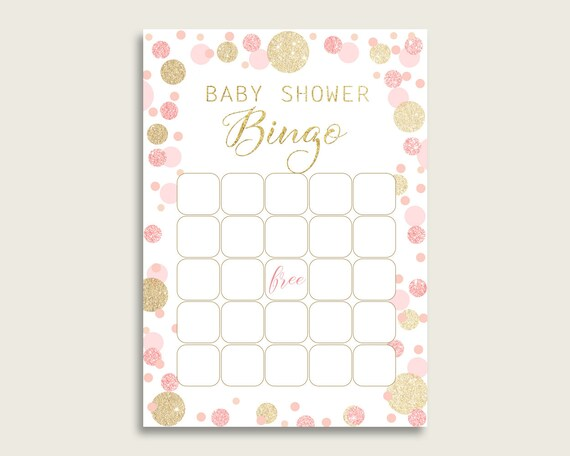 graphic regarding Dots Game Printable called Red Gold Kid Shower Bingo Blank Recreation Printable, Dots Little one