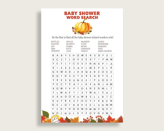 photograph regarding Fall Word Search Printable identified as Slide Phrase Appear Video game, Orange Brown Boy or girl Shower Phrase Seem