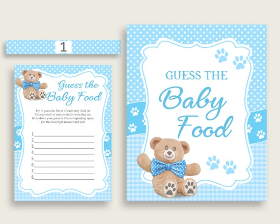 picture relating to Guess Who Game Printable titled Blue Brown Teddy Undertake Wager The Boy or girl Foods Sport Printable