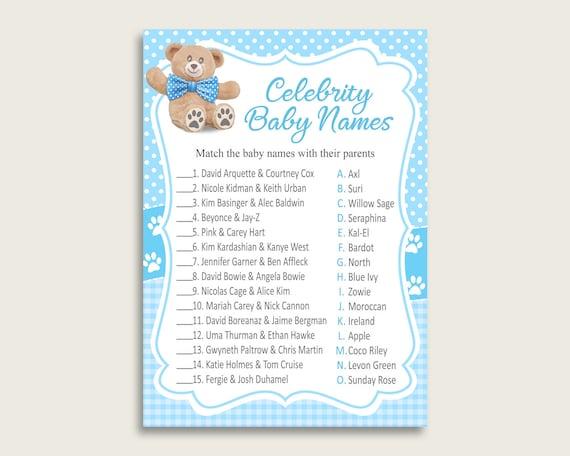 Blue Brown Celebrity Baby Names, Teddy Bear Baby Shower Boy