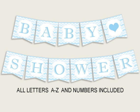 image regarding Free Printable Chevron Banner Minecraft referred to as Chevron Youngster Shower Banner All Letters, Birthday Occasion