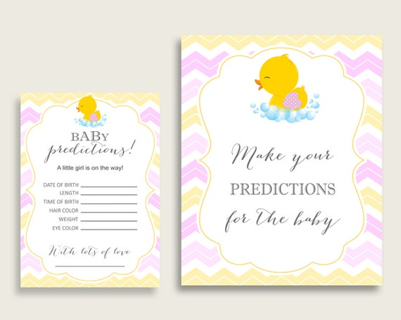 picture regarding Rubber Ducky Printable identify Rubber Ducky Child Shower Prediction Playing cards Signal Printable