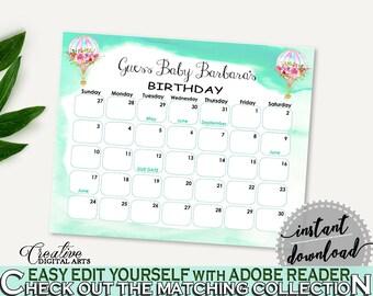 Birthday Predictions Baby Shower Birthday Predictions Hot Air Balloon Baby Shower Birthday Predictions Baby Shower Hot Air Balloon CSXIS
