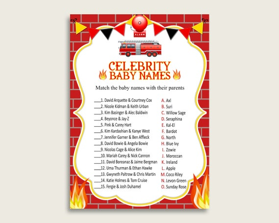 Red Yellow Celebrity Baby Names, Firetruck Baby Shower Boy