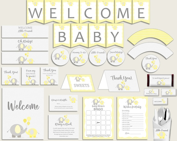 Decorations Baby Shower Decorations Yellow Baby Shower Decorations