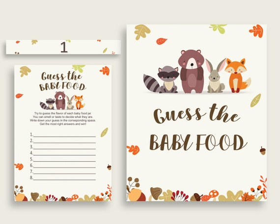 photo regarding Guess the Baby Food Game Printable identify Brown Beige Woodland Wager The Youngster Meals Activity Printable, Gender Impartial Child Shower Meals Guessing Match Sport, Instantaneous Down load, w0001