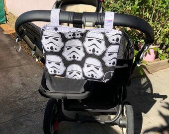 Basic Pram Caddy / Stroller Organiser - Star Wars Black