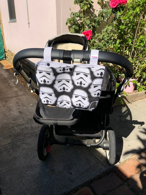 basic pram caddy stroller organiser star wars black etsy