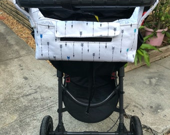Pram Caddy / Stroller Organiser - Blue Arrows - CLEARANCE
