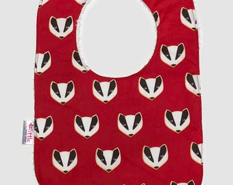 Baby Bib Red Skunk - CLEARANCE
