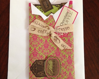 Friendship Card, Homemade Card, Chocolate-Shaped Card