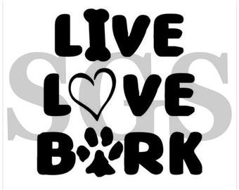 live love bark decal etsy