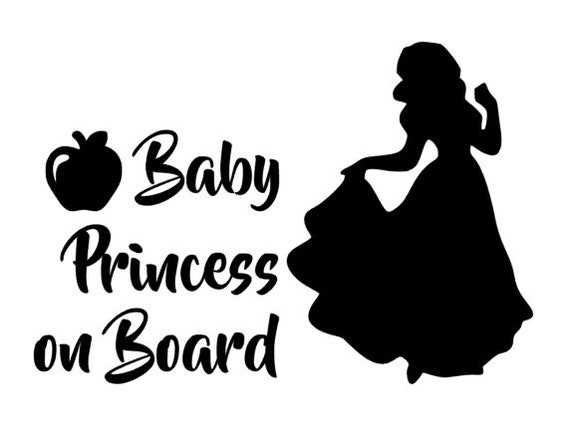 Snow White Baby On Board Personalised Disney Princess On Board Car Sign