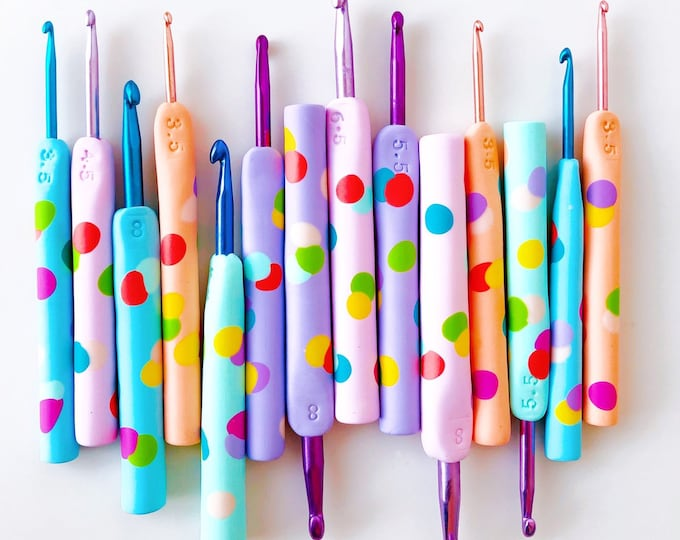 Hand made Confetti crochet hook