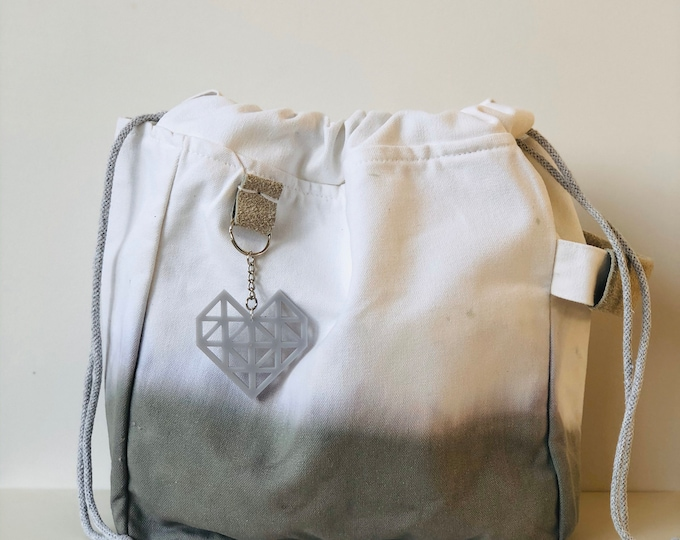 Grey Dip Dye Project Bag