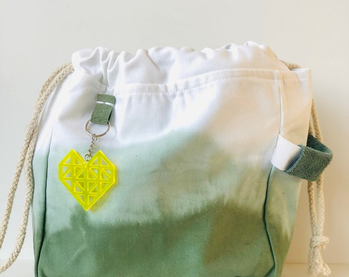 Forest Green Dip Dye Project Bag
