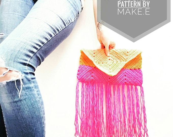 Club Tropicana Granny Clutch Crochet PDF Pattern by Make.E