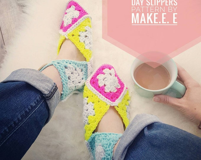 Make.E Scandi Granny Square Day Slippers