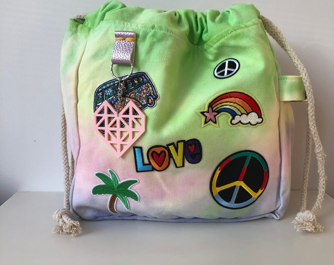 70's Tie Dye Project Bag