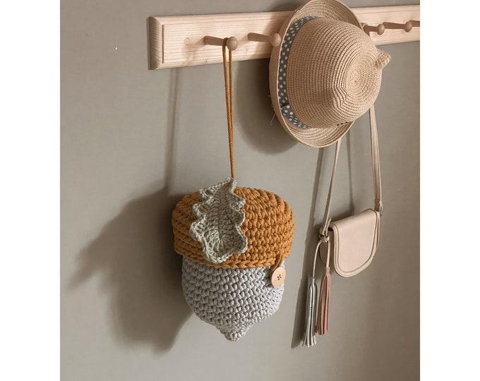 PDF crochet acorn basket pattern