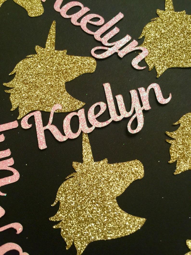 30CT. Unicorn Confetti Personalized confetti with Unicorn Heads