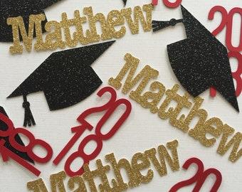 Graduation Party Decoration 2018, Graduation Confetti, Graduation Personalize with your Name Confetti, Personalized Name Confetti