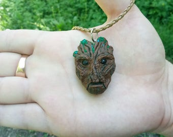 Steampunk pendant Geometric jewelry Girlfriend gift for daughter Boyfriend gift Industrial Teen gift Guardians of galaxy Groot accessories