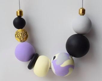 Black Violet Necklace
