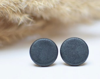 Metallic Black Earrings