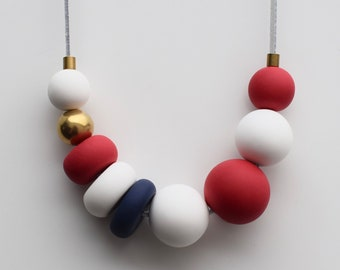 Red & Navy Necklace