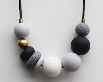Dark Gray Necklace