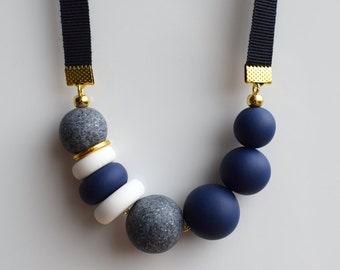 Navy Band Necklace