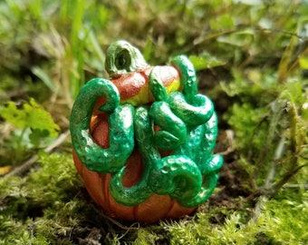 Tentacled Pumpkin Magnet - Halloween Decor