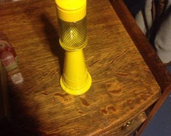 Avon remember when antique glass gas tank decanter yellow