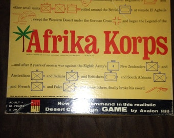 Early 1960's afrika korps wprld war 2 board game.