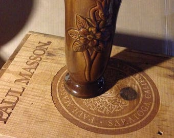 SALE rare vintage Van Briggle vase in brown and tans signed on bottom with the double A Colorado Springs, Colorado.