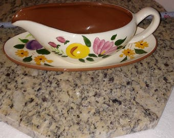 Stangl Pottery Fruit and Flowers RARE NM condition gravy boat vintage pottery htf pottery Stangl pottery Mid Century Modern