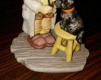 """Hummel Goebel Berta Hummel figurine of boy and dog, """"the doctors in"""", BH9, vet and dog, rare vintage hummel Goebel MUST SEE best Hummel deal"""