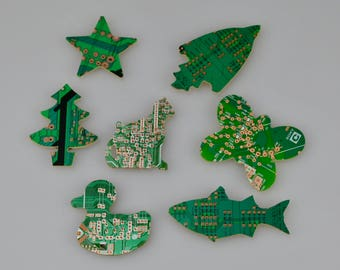 Circuit Board Fridge/Refrigerator Magnets - Father's Day Gifts - Geek Gifts - Tech Accessory - Computer Programmer - Software Engineer