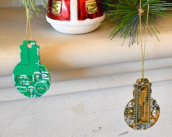 Circuit Board Christmas Snowman Decoration Ornament - Computer Gifts - Eco Gifts - Geeky Xmas Gifts - Programmer Gift- Secret Santa